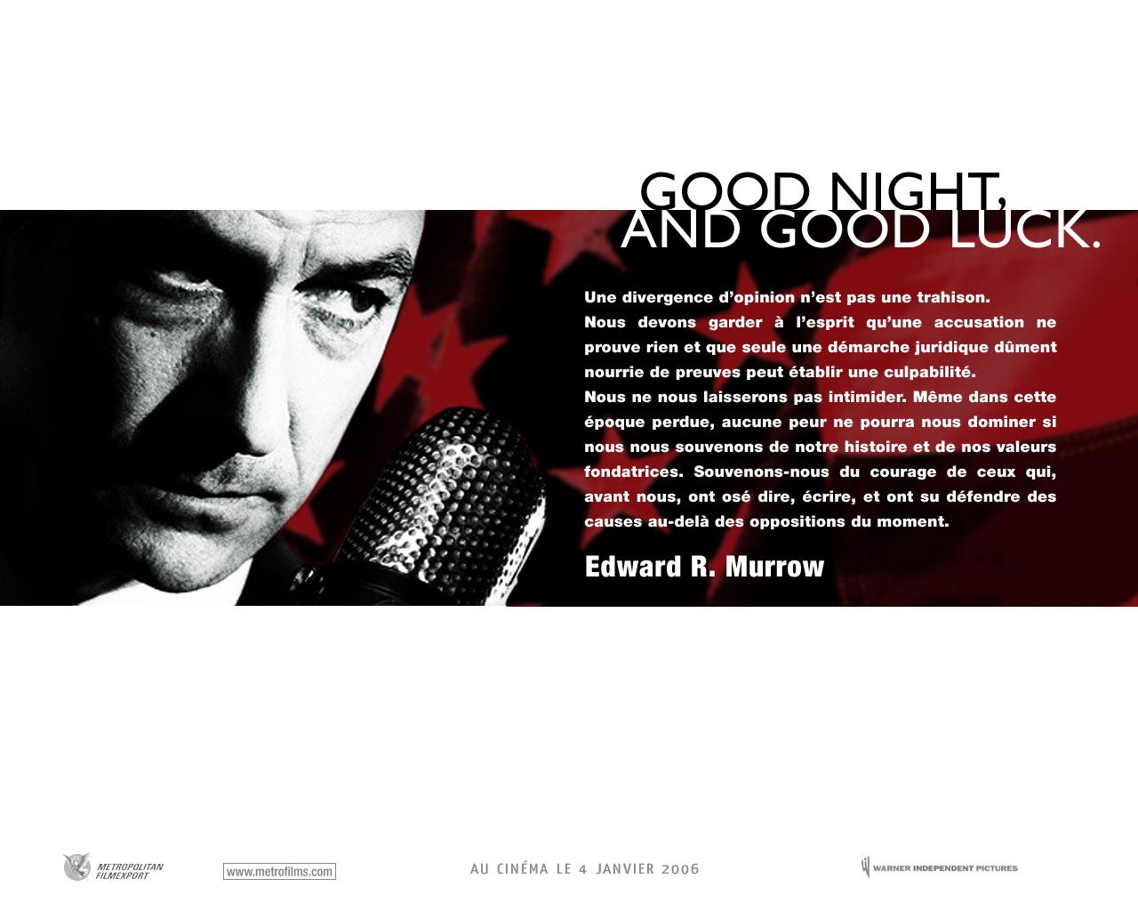 Fonds Décran Du Film Good Night And Good Luck Wallpapers Cinéma